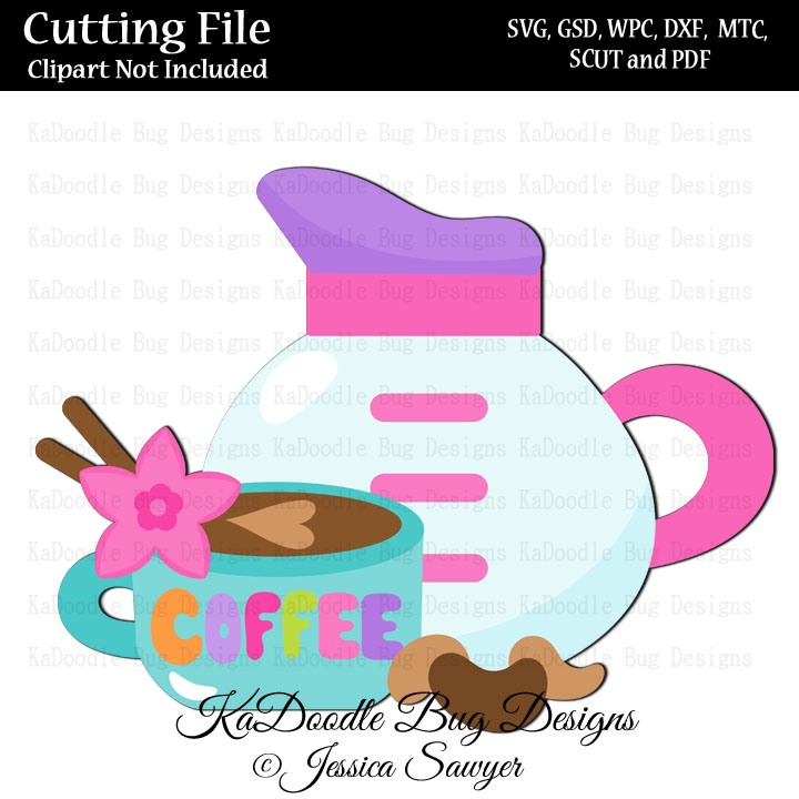 JS Good Morning Coffee SVG CUT FILE PAPER PEICING CLIPART