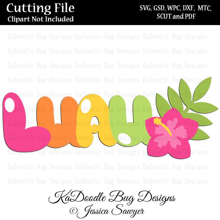 JS Luau Title SVG CUT FILE PAPER PEICING CLIPART DIGITAL