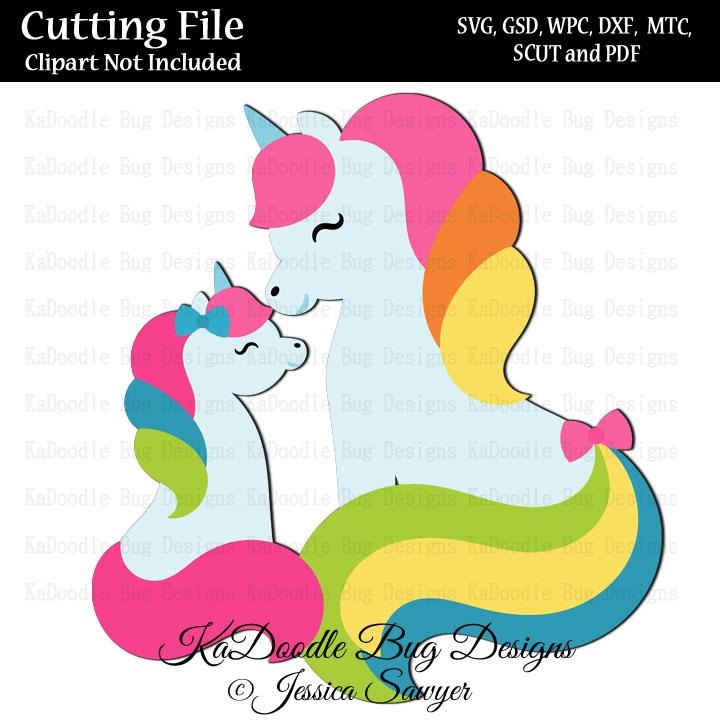 Js Pretty Unicorns Svg Cut File Paper Peicing Clipart Digital Stamps