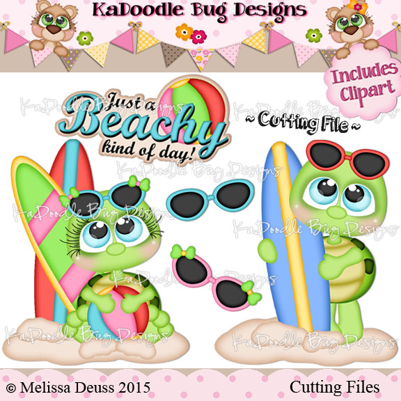 Cutie KaToodles - Beachy Turtles