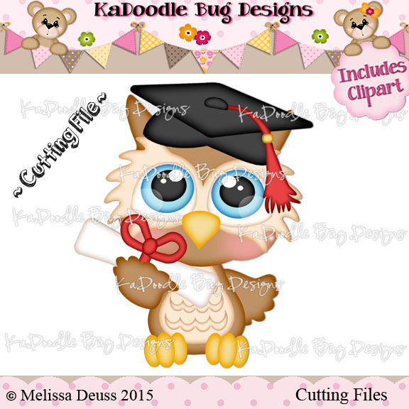 Cutie KaToodles - Graduation Owl - Click Image to Close