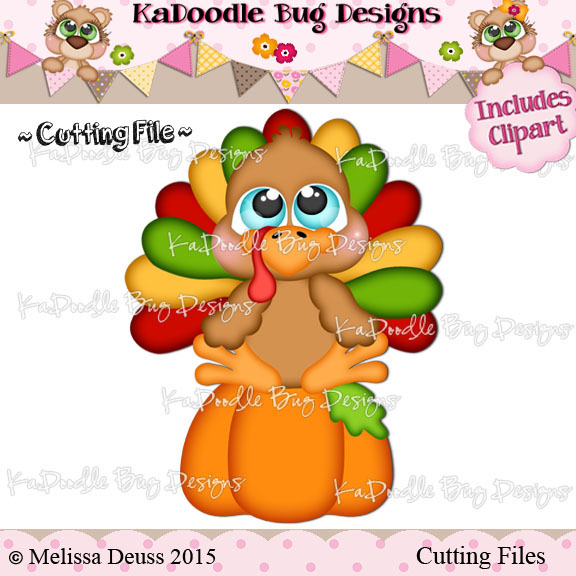 Cutie KaToodles - Pumpkin Turkey
