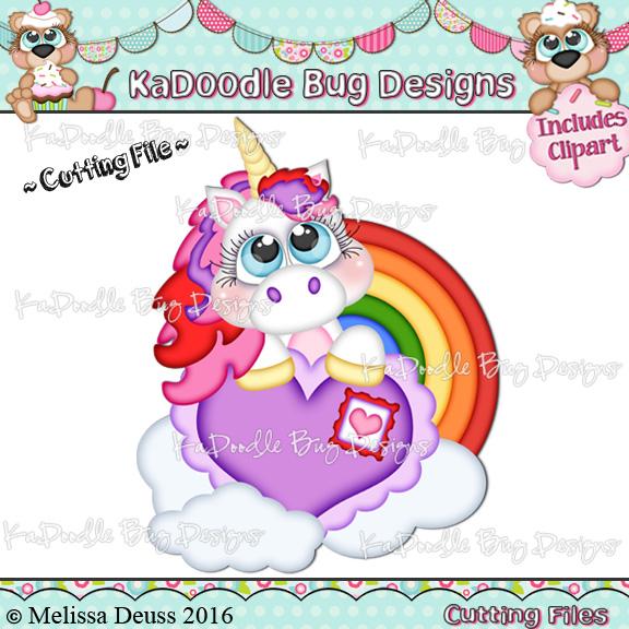Cutie KaToodles - Valentine Unicorn