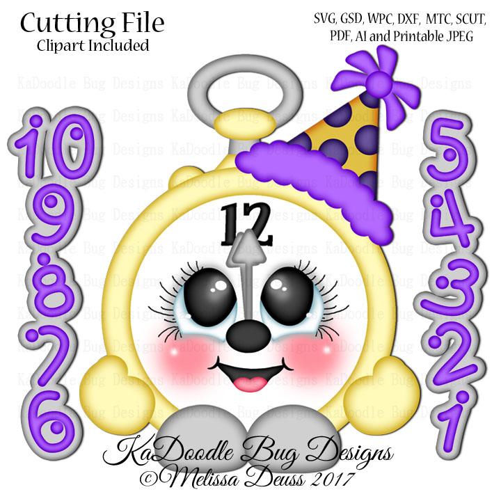 shoptastic cuties new year clock cutie