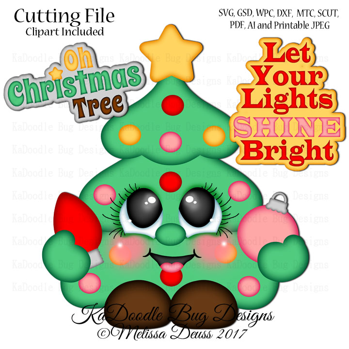 Shoptastic Cuties Oh Christmas Tree Cutie Svg Cut File