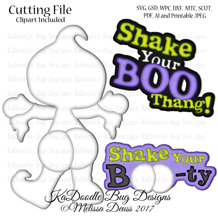 Shake Your Boo Thang Svg Cut File Paperpiecing Scrapbooking Digital