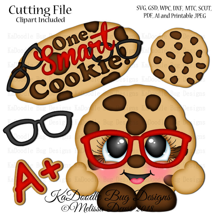 photo about One Smart Cookie Printable identify Shoptastic Cuties - 1 Sensible Cookie SVG Slice Record