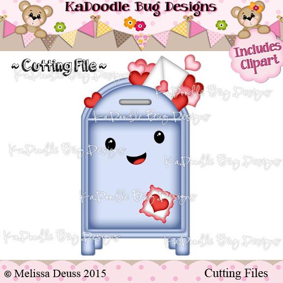 Valentine Mailbox []   $0.50 : Kadoodle Bug Designs, Cut Files, Digi  Stamps, Clip Art
