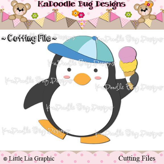 *SURPRISE FREEBIE* Ice Cream Penguin