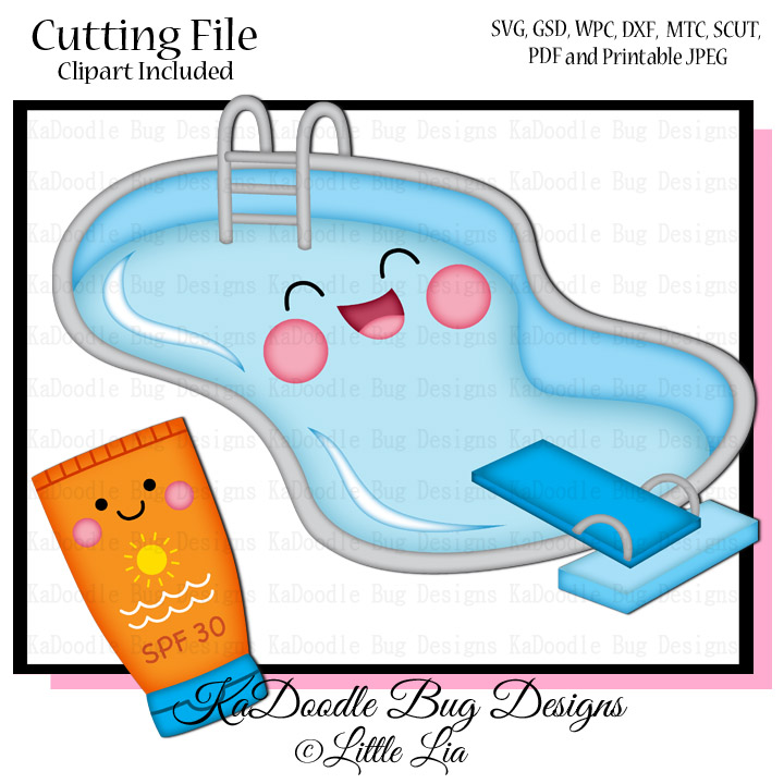 Little lia graphic cf kadoodle bug designs cut files for Pool design graphic