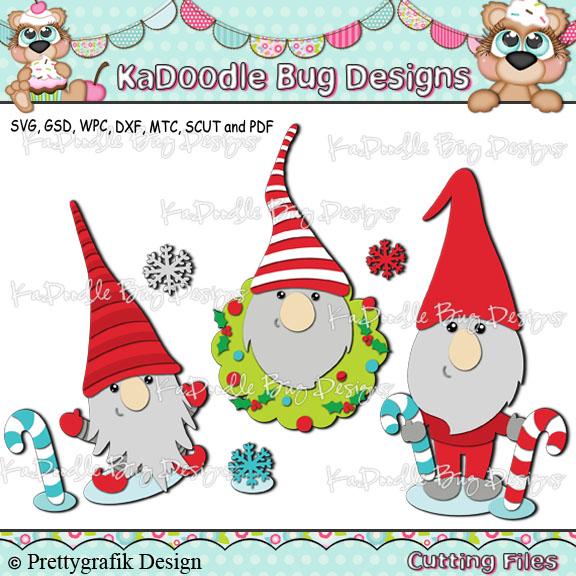 Christmas Gnomes Clipart.Winter Christmas Gnomes 1 88 Kadoodle Bug Designs