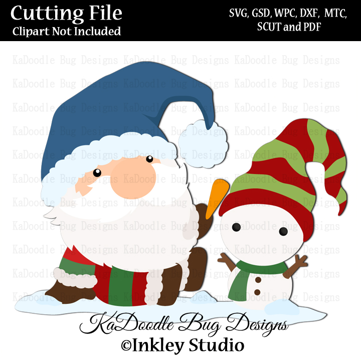 Winter Snowman Gnome Svg Cut File Paper Peicing Clipart Digital Stamps Scrapbooking Cards 1 00 Welcome To Kadoodle Bug Designs Svg Cut Files More