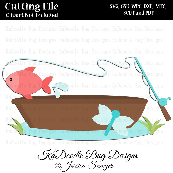 Download Js Fishing Boat Svg Cut File Paper Peicing Clipart Digital Stamps Scrapbooking Cards Vinyl Cricut Explore Silhouette 1 00 Welcome To Kadoodle Bug Designs Svg Cut Files More