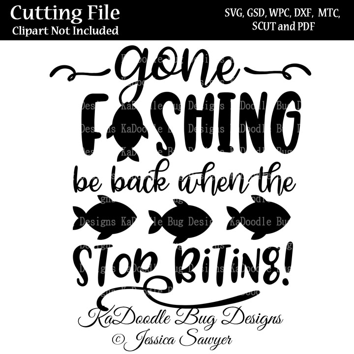 Download Gone Fishing Title Svg Cut File Paper Peicing Clipart Digital Stamps Scrapbooking Cards Vinyl Cricut Explore Silhouette 1 00 Welcome To Kadoodle Bug Designs Svg Cut Files More