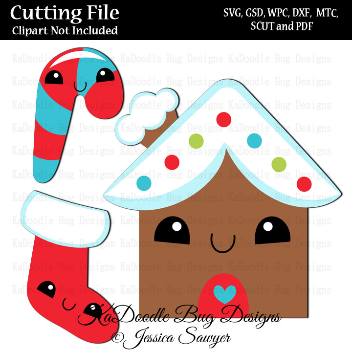 Js Kawaii Gingerbread House Svg Cut File Paper Peicing Clipart Digital Stamps Scrapbooking Cards 1 00 Welcome To Kadoodle Bug Designs Svg Cut Files More