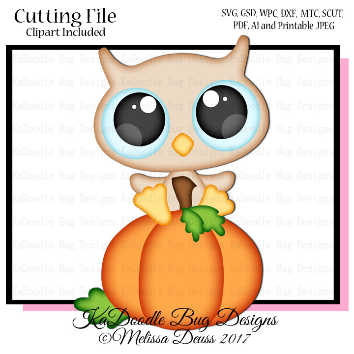 Baby Pumpkin Owl Svg Cut File Paperpiecing Scrapbooking Digital Stamps Clipart Papercraft Cards 0 35 Welcome To Kadoodle Bug Designs Svg Cut Files More