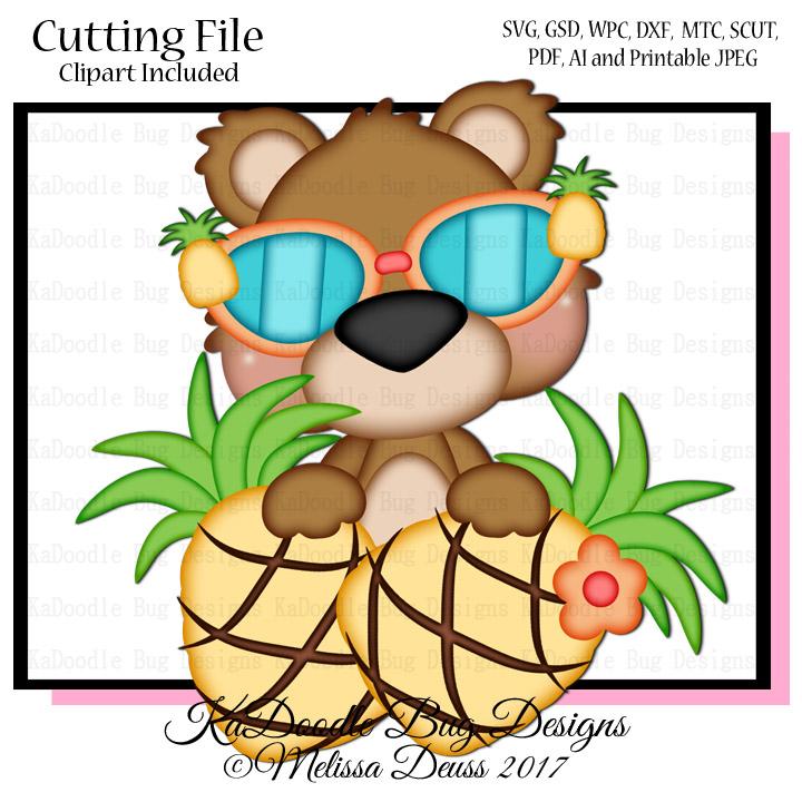 JS Kawaii Summer SVG CUT FILE PAPER PEICING CLIPART DIGITAL