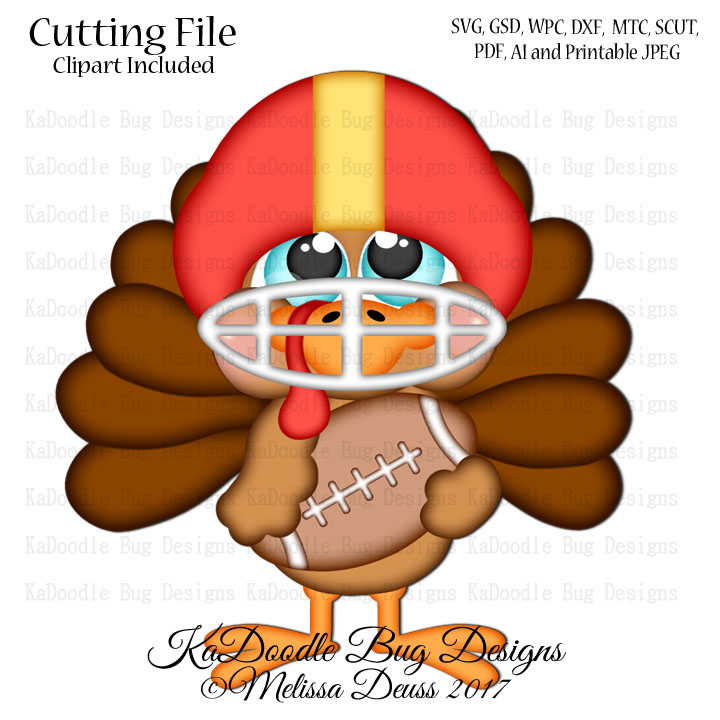 Cutie Katoodles Football Turkey Svg Cut File Paperpiecing Scrapbooking Digital Stamps Clipart Papercraft Cards 1 00 Welcome To Kadoodle Bug Designs Svg Cut Files More