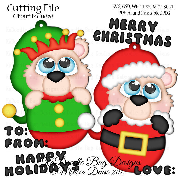 Cutie KaToodles - Santa Elf Tags