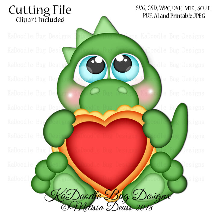 View Valentine Cutting File Kwd016D DXF