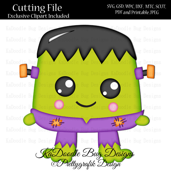 Pg Halloween Frankenstein Cutie Svg Cut File Paper Peicing Clipart Digital Stamps Scrapbooking Cards 1 00 Welcome To Kadoodle Bug Designs Svg Cut Files More
